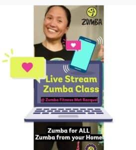 zumba livestream les zumba livestream class