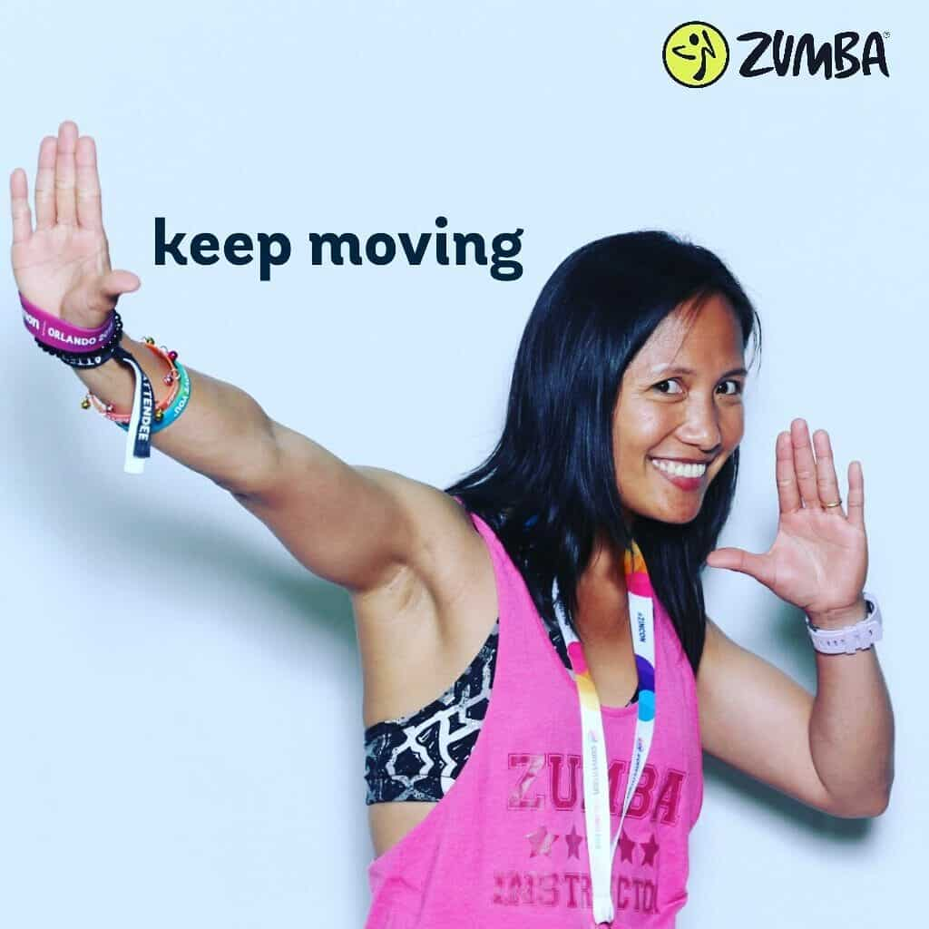 racquel in zumba instructor convention
